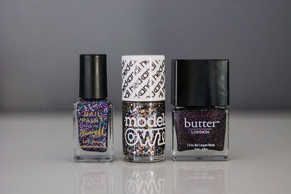 Firework Inspired Nail Polish.  Barry M, Models Own, OPI, Butter London