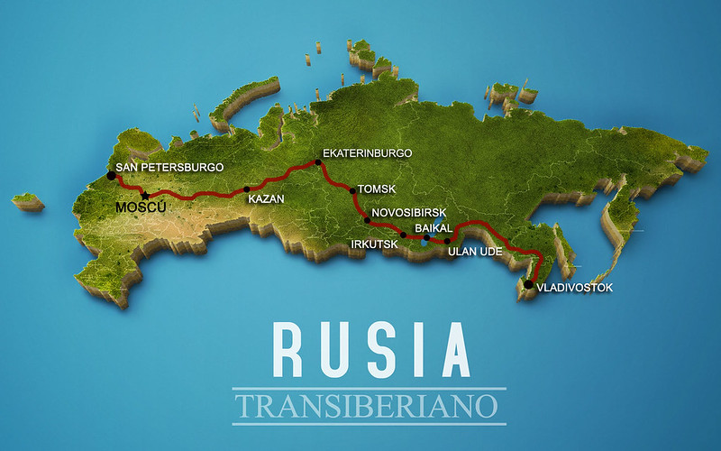 Mapa del Transiberiano
