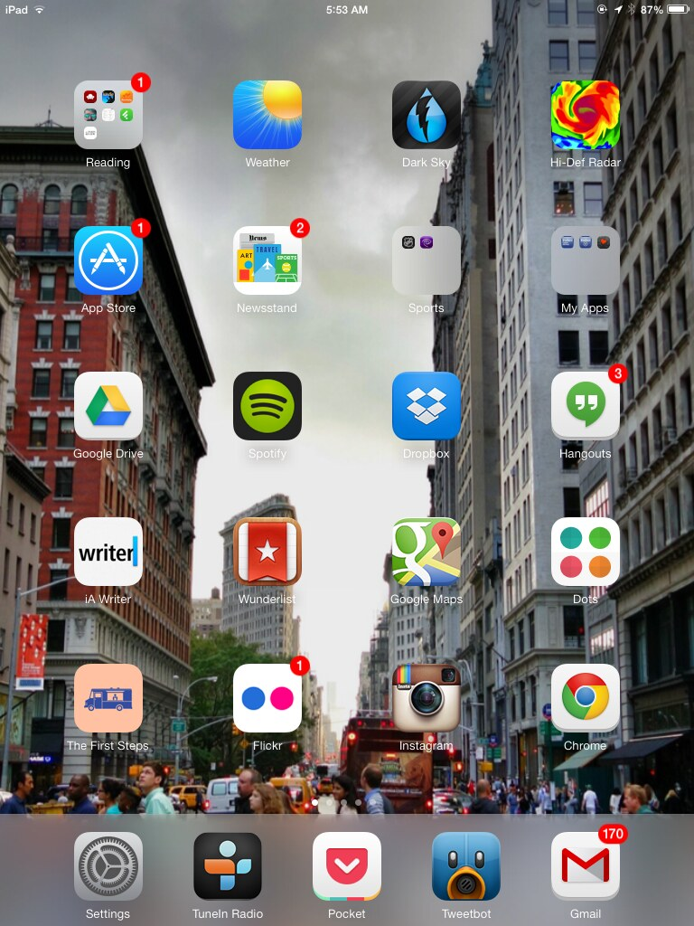 Home Screen iOS
