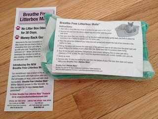 Breathe Free Litterbox Mate product review