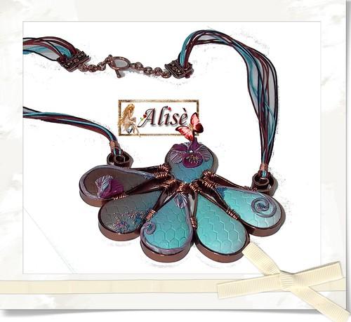 Collar cobre y fimo azul1 by Alisè