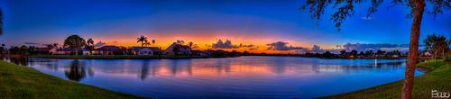 sunset lake clouds florida panoramic hdr highdynamicrange photomatix lakesofsherbrooke topazplugins