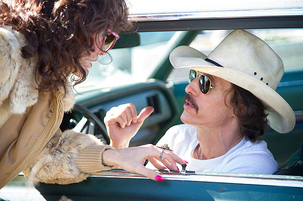 Jared Leto and Matthew Matthew McConaughey partner up in DALLAS BUYERS CLUB.
