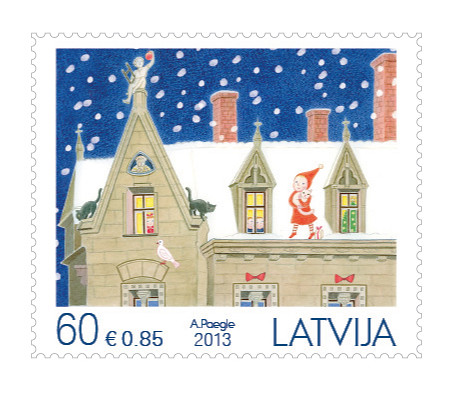 Ziemassvētku pastmarkas 2013