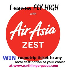 Air Asia Zest promo at Earthlingorgeous
