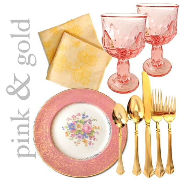 Forget silver and gold! We have an arsenal of #pinkandgold #vintage entertaining essentials to make your #holidaytable unforgettable!
