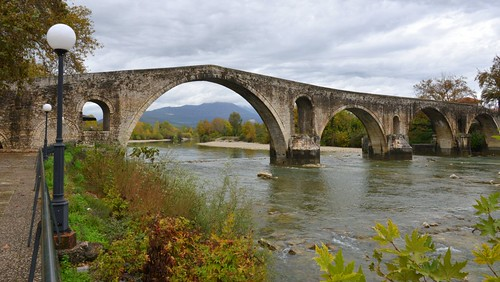 bridge november stone greece thursday arta epirus 2013 nov2013 21nov2013