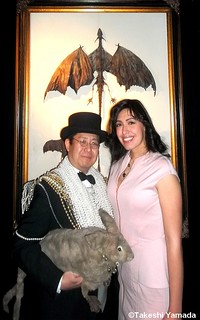 Seara (sea rabbit) and Dr. Takeshi Yamada attended the opening reception of their art exhibition at Pop Up Gallery in New York City on February 7, 2013. (A promotional event for the AMC new cable television series, IMMORTALIZED.)    230P==XZ
