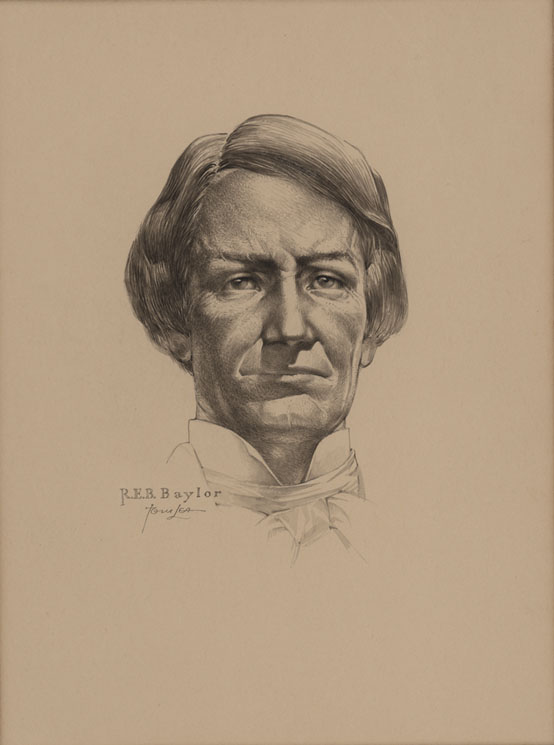 Judge R.E.B. Baylor, drawing by Tom Lea, 1971