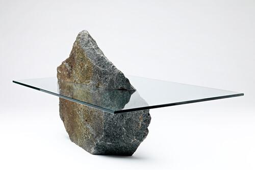 unique design coffee table glass