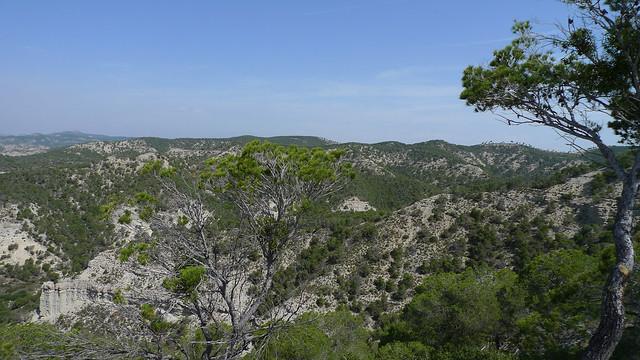 Sierra de Alcubierre from Mirador de la Gabardera, Monegrillo