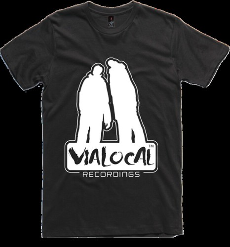 Vialocal Recordings t-shirt black