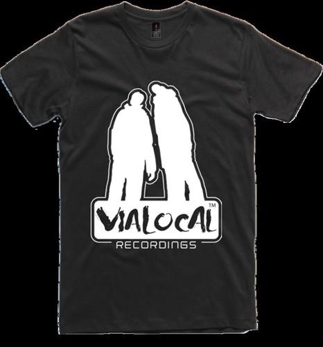 Vialocal Recordings t-shirt black