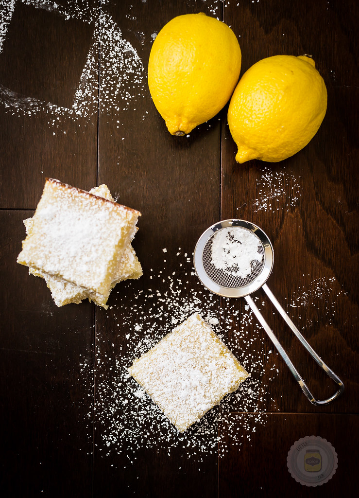 Sunshine Lemon Bars Final Shot Stacked and Single Piece