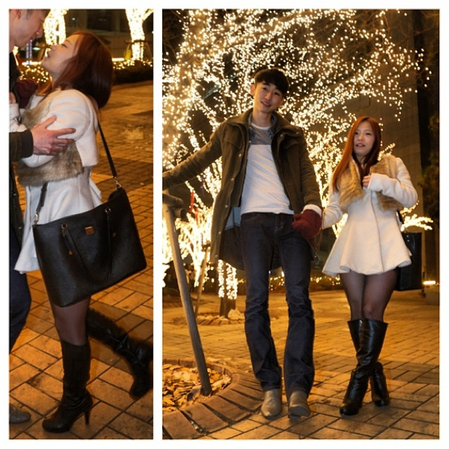It's full on romantic Christmas in Korea, Actually!