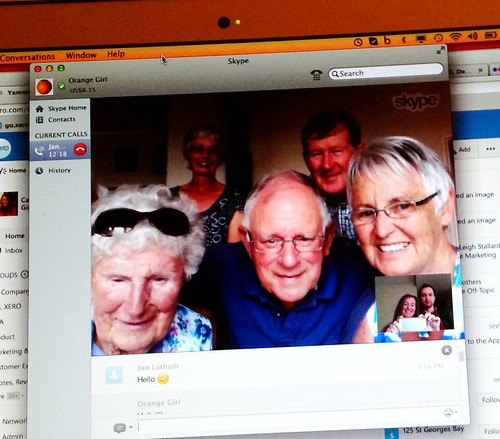 Skyping with family on Christmas Day
