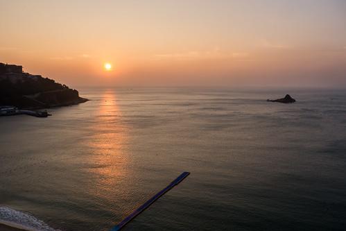 china sea sun water sunrise island day clear guangdong shenzhen southchinasea dameisha