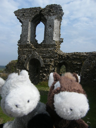 UWE Staff Social weekend trip to Corfe Castle with Staff Social mascots - September 2013