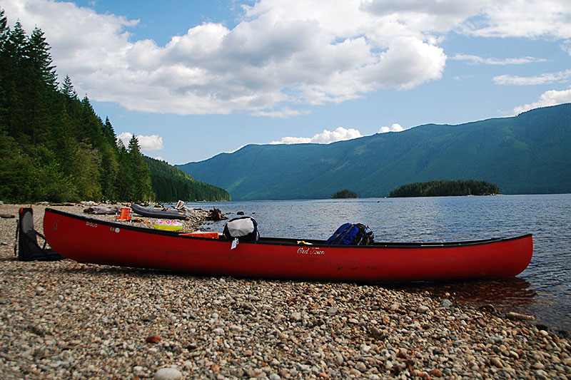 Great Central Lake north of Port Alberni, Vancouver Island, British Columbia