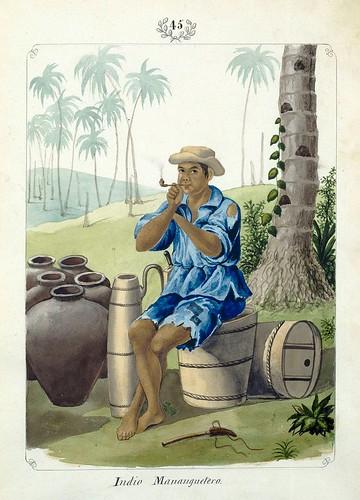 007-Indio Mananguetero-Vistas de las Yslas Filipinas y Trages…1847-J.H. Lozano- Biblioteca Digital Hispánica
