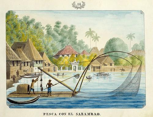 009-PESCA CON EL SARAMBAO-Vistas de las Yslas Filipinas y Trages…1847-J.H. Lozano- Biblioteca Digital Hispánica
