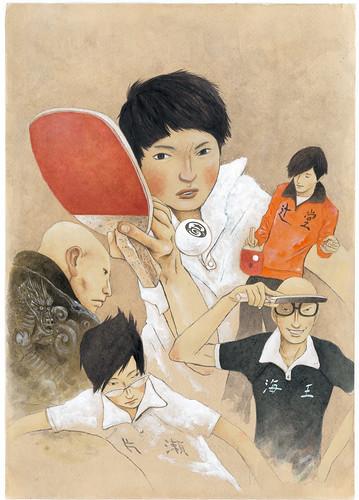 140117(3) – 真人電影之後睽違12年、漫畫家「松本大洋」青春熱血作《ピンポン》(乒乓)將在4月放送電視動畫版、預告出爐!