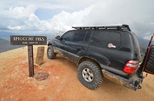 Exploring in comfort: 100 Series Land Cruiser at the top of Imogene Pass Colorado | TCT Magazine January 2014
