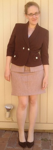 Tweed Peplum Skirt - After