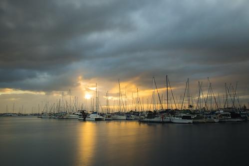 sea clouds sunrise boats manly sunsetsandsunrisesgold cloudsstormssunsetssunrises