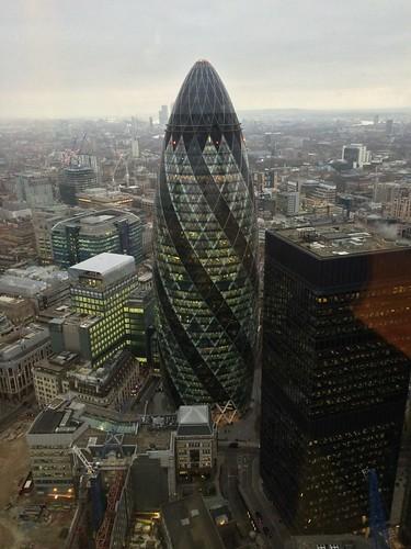 <p>Gherkin taken from floor 40 of Tower 42</p>