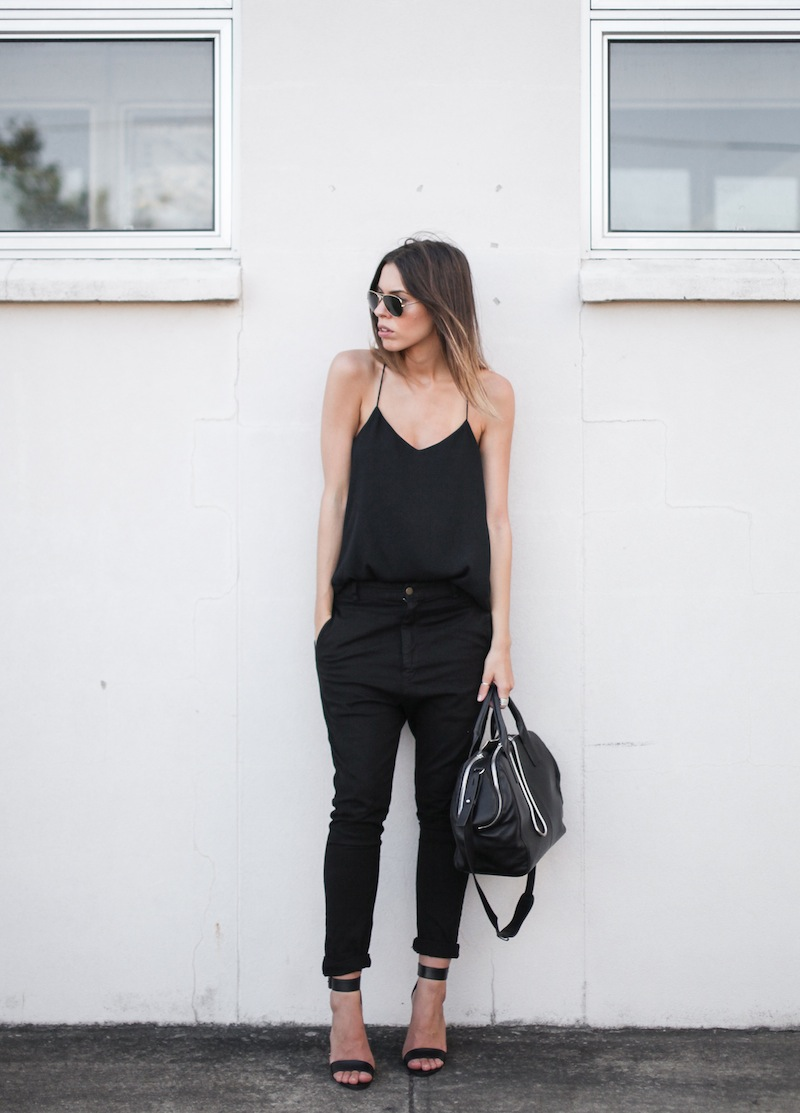 modern legacy fashion personal style blog australia street bassike camilla and marc all black tibi heels alexander wang jamie chain tote bag workwear (7 of 10)