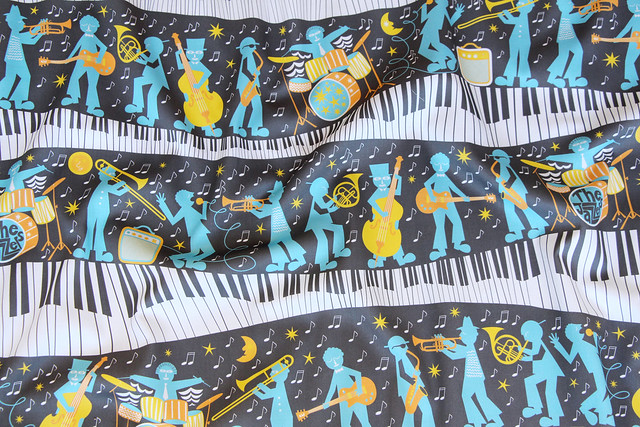 History of Jazz Design Challenge Top Ten Winner: Moonlight Jazzers by christinewitte