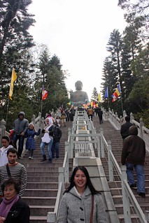 Mei with the Big Buddha in the background