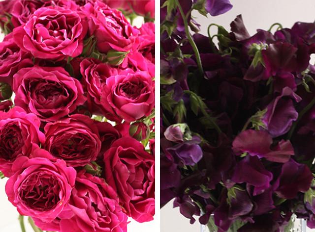 sweet peas & spray roses