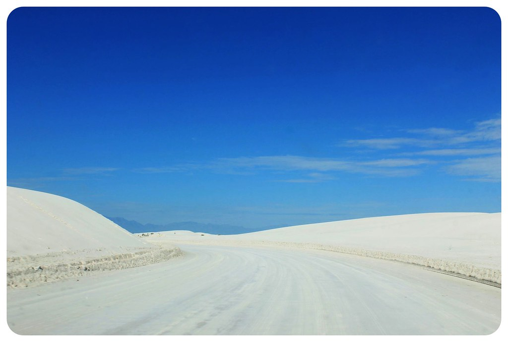 White Sands New Mexico sandy street