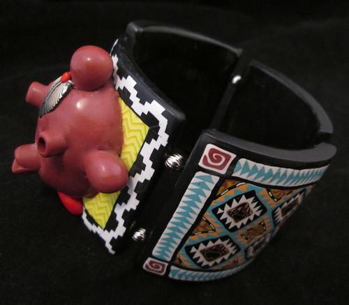 Mudhead Kachina Tile Bracelet