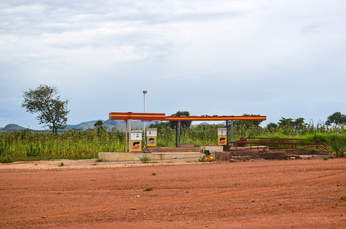 Sonangol abandoned petrol station