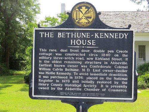 The Bethune-Kennedy House Marker (HCC) Abbeville AL