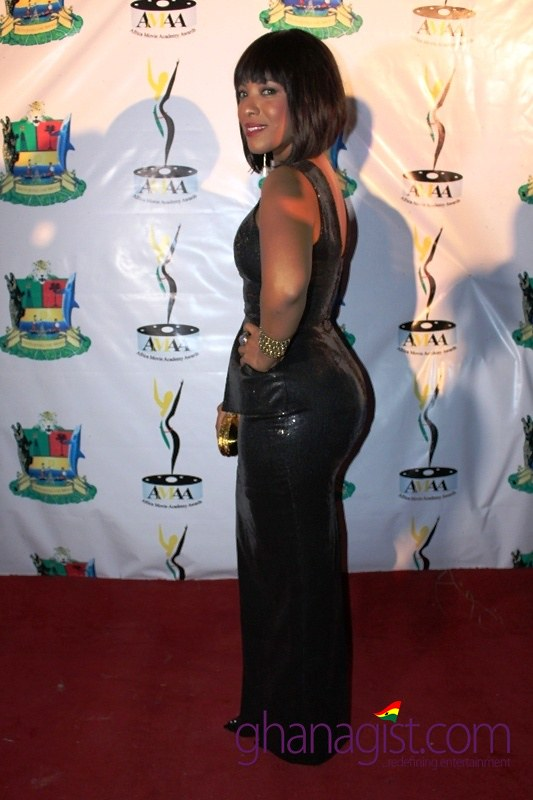 Joselyn Dumas at Africa Movie Academy Awards 2014
