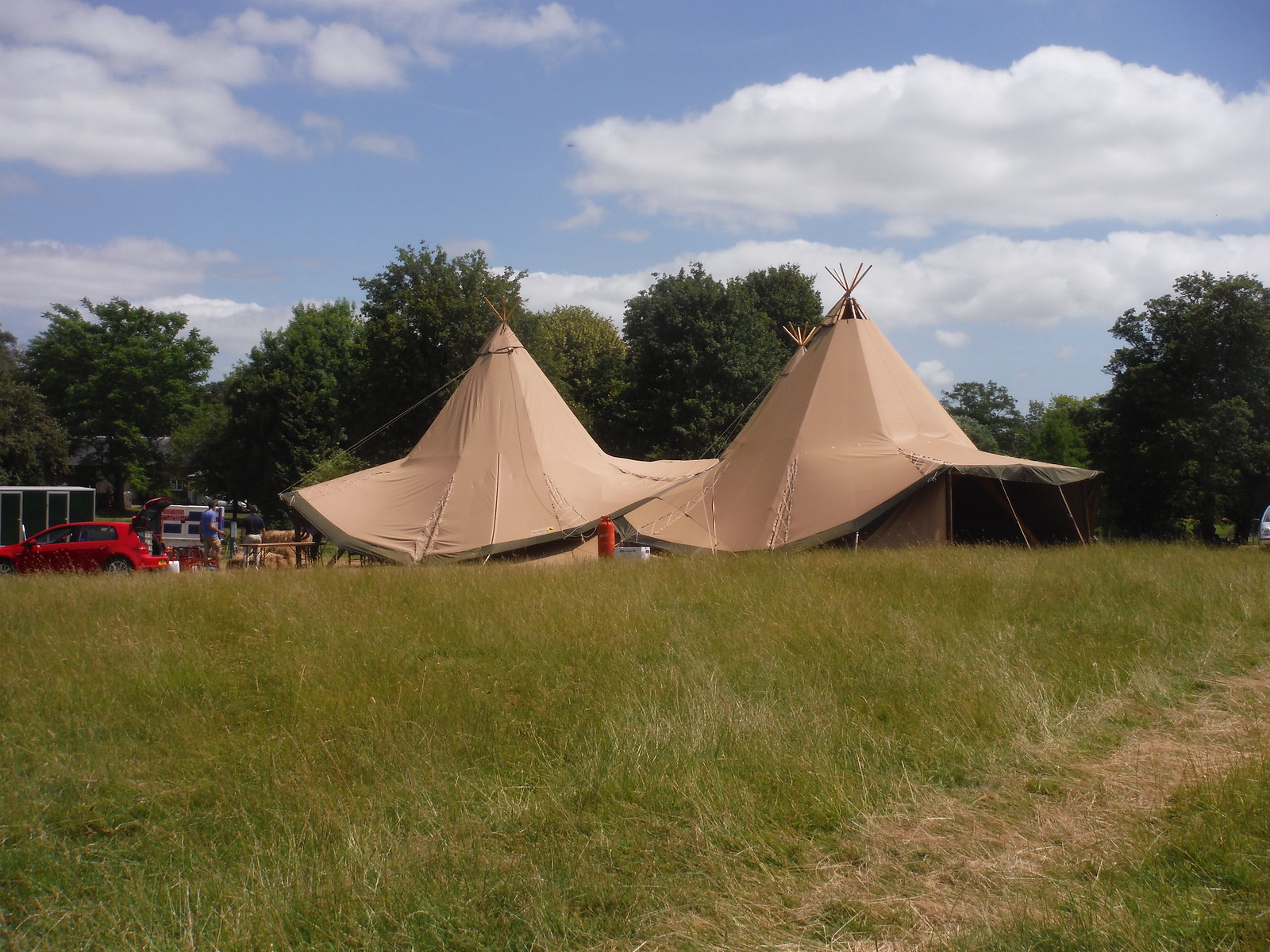 Tipis in West Burton SWC Walk 217 Midhurst Way: Arundel to Midhurst