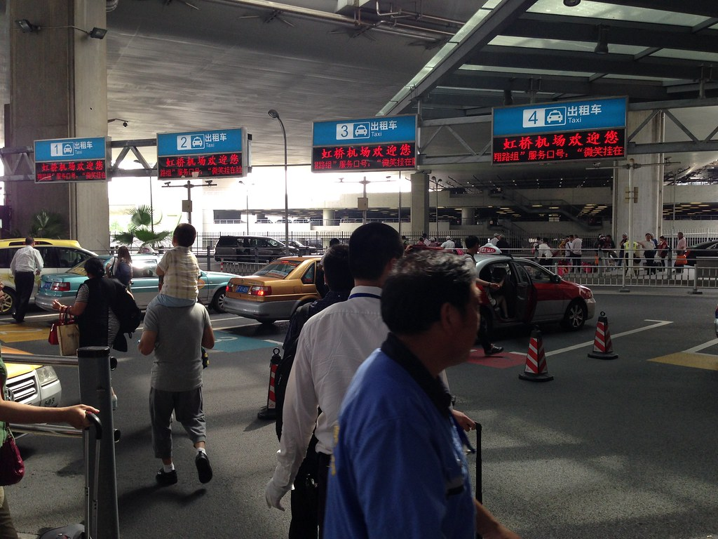 Taxi Queue at Hongqiao