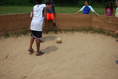 boules, sand, play, sports,