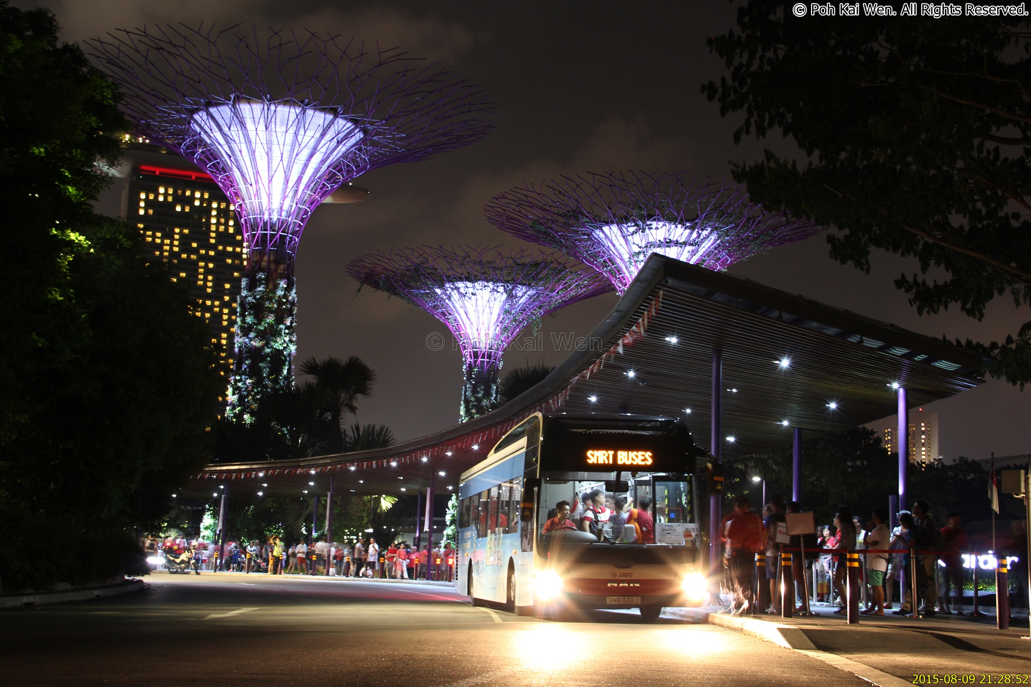Garden By The Bay Bus smrt sg50 free shuttle | public transport sg