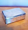 Vintage Silver Plate Cigar Humidor - Cedar Lined Desktop Cigar or Cigarette Box