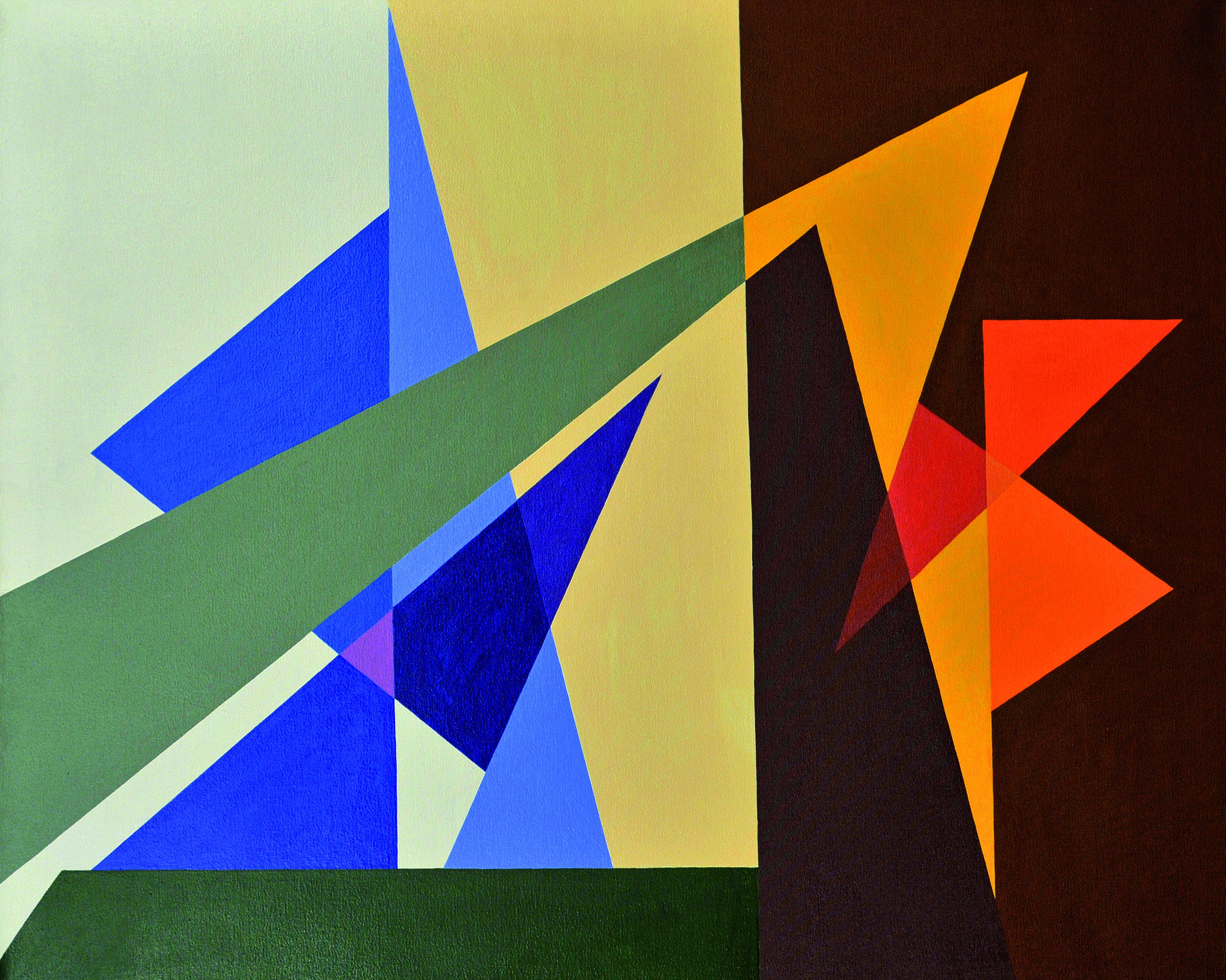 Progressão de Cores Autor: Denis Cavalcanti Ano: 2008 Técnica: acrílica sobre tela Dimensão: 80cm x 100cm