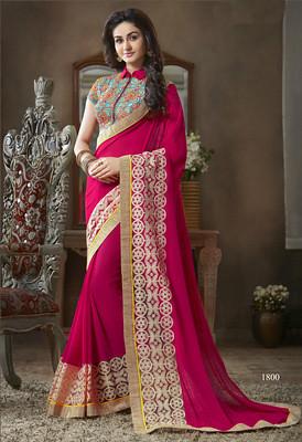 designer-georgette-pink-color-sarees-shimplycom