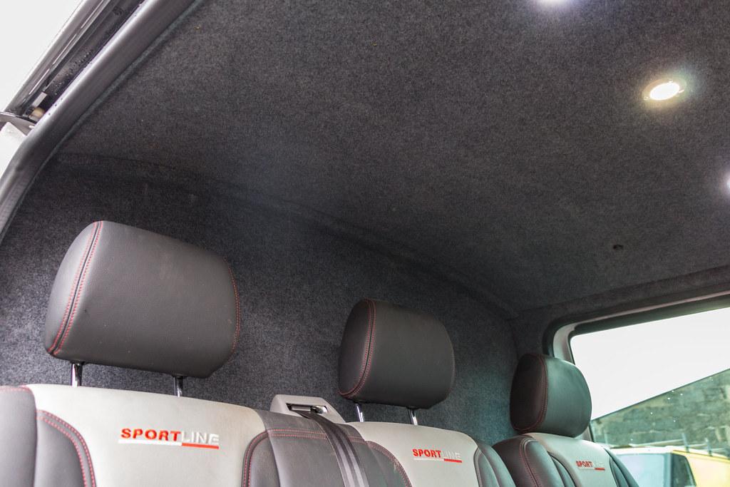 b9d254c525 by Van Line NI · VW Transporter T5 - Carpet Lining   LED Lights-11