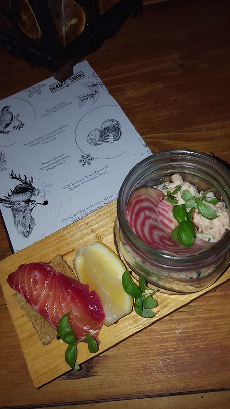 Sloe Gin Cured Salmon - delicious food