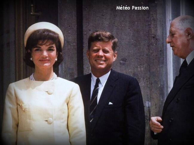visite du couple Kennedy à Paris dans la fraîcheur de la fin mai 1961 météopassion