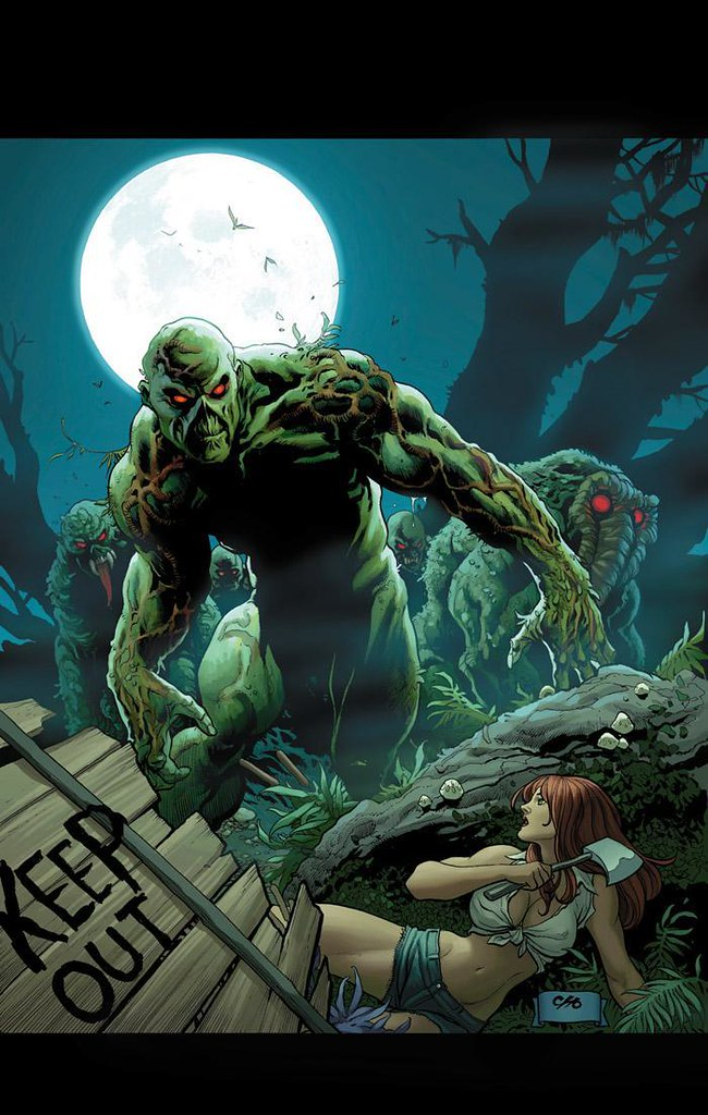 Swamp Thing and Man-Thing by Frank Cho